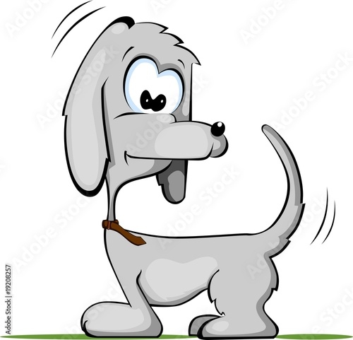 Illustration of comic dog