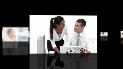 Women working hard in the office