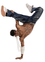 hip-hop dancer during his practice session