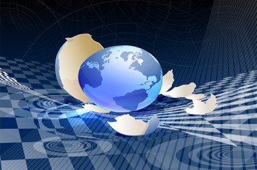 hatched Globe
