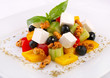 Fresh salad with vegetables and cheese
