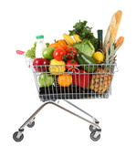 trolley with produce