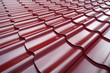 Steel roof painted in red color.