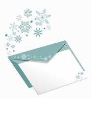Winter Greeting Envelope