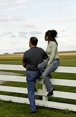 Man and woman in country
