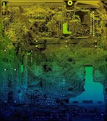 PC multicolored board closeup