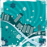 Urban Winter Background