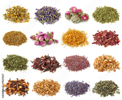 Flower and herbal tea collection