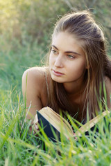 girl with book