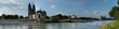 Panoramafoto von Elbe und Dom in MAgdeburg