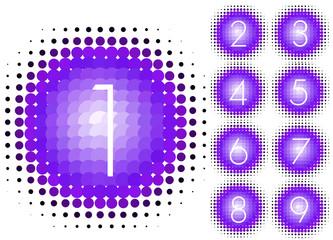 halftone numbers violet