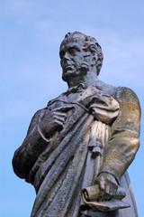 Viscount Palmerston statue detail