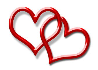 red heart for valentines day and love