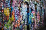 Fototapety Colorful graffiti wall