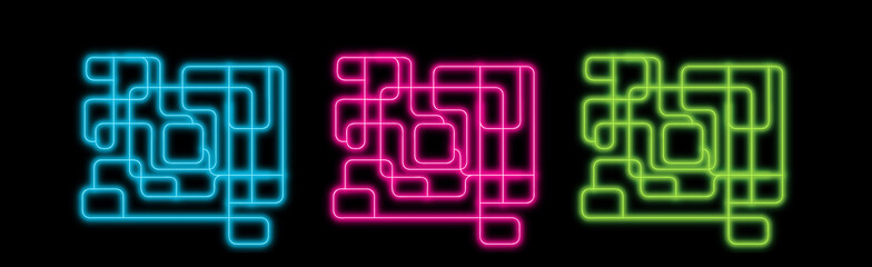 Neon abstract lines