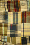 Patchwork background poster