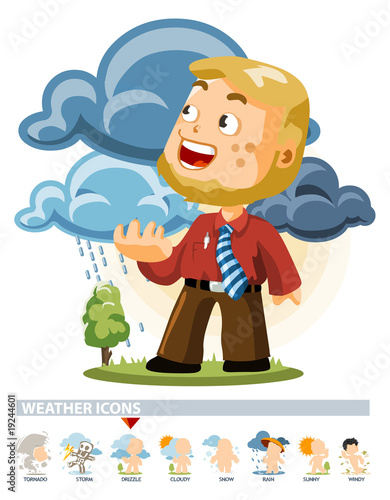 Drizzle. Weather Icon