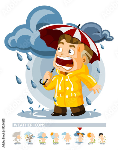 Rain. Weather Icon