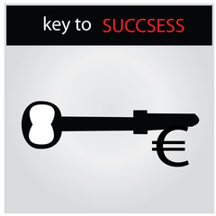 KEY TO SUCCESS - vector