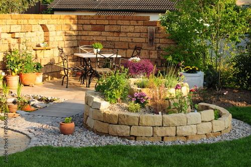 Leinwanddruck Bild Garten