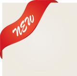 New red corner ribbon poster