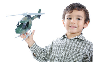 Kid with helicopter
