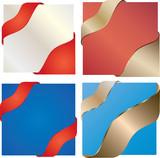 colored corner ribbons poster