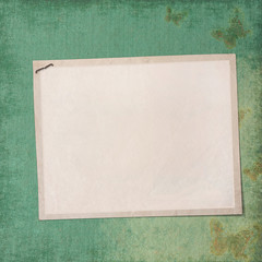 blank note paper on the vintage background.