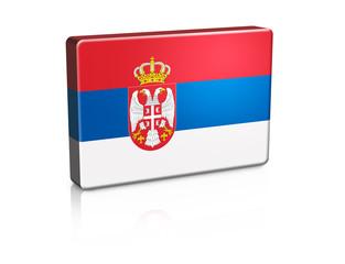 3D Serbia Banner Flag