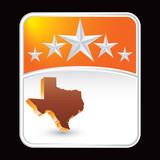 texas state under orange star background poster