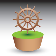 ship wheel green patch