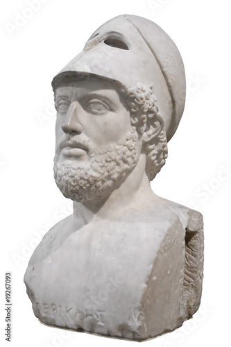 Aluminium Athene Bust of the greek statesman Pericles