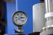 Leinwandbild Motiv Industrial manometer on the machine