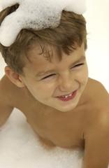 Little boy in the tub