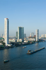 Chao Praya River in Bangkok, Thailand