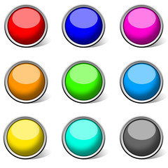 colour circle empty icon & button for web