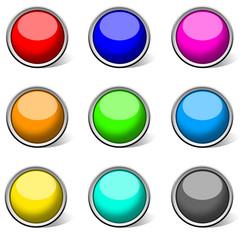 colour circle empty icon & button for web