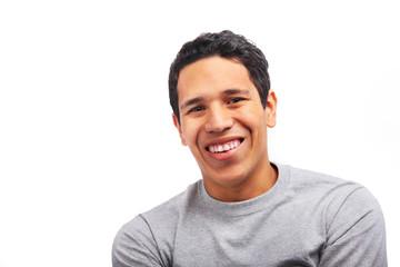 Smiling hispanic young man