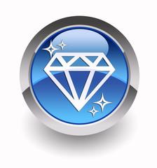Diamond glossy icon
