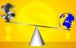 Illustration of balancing with saving symbols and glob