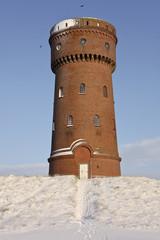 Wasserturm im Winter