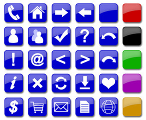 set of 19 most popular icons on the web