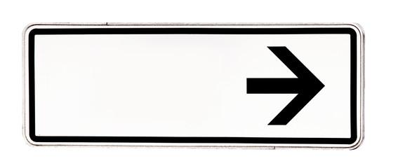 Schild mit Pfeil
