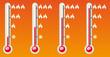 thermometre 4 niveaux de chaud