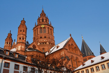 Mainz Cathedral (Mainzer Dom) on a Beautiful Winter's Day