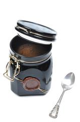 metallic coffee box