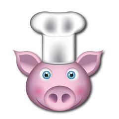 Cabeza de cerdo cocinero