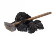 isolated  hammer coal, carbon nuggets