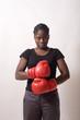 boxeuse au repose prete à combattre