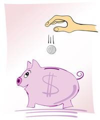 saving dollars